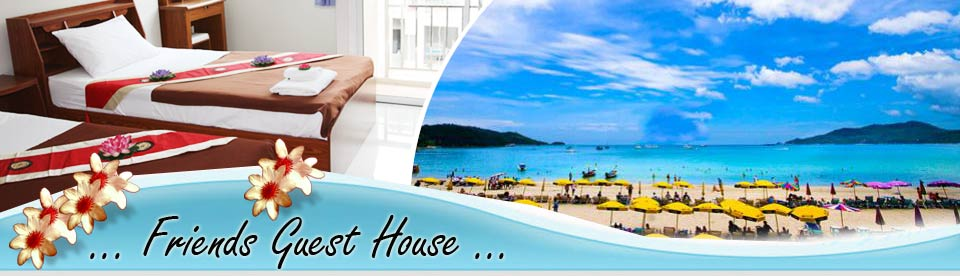 Friends Guest House Rooms WiFi Internet Patong Beach Phuket Thailand