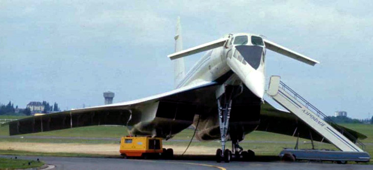 Tupolev 144-D Supersonic Transport, Paris Air Show, 1979.