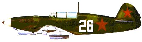 Yak-7B: The type flown by Tamara at the Battle of Stalingrad with the all-female 586th Fighter Air Regiment.