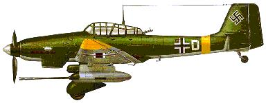 Ju 87 Stuka Note: under wing 37 mm cannons for busting up Tanks