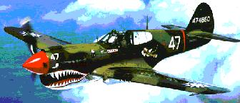 Curtiss P-40 in AVG Flying Tigers paint scheme