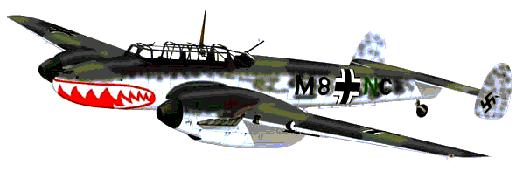 Me 110 Zerstrer, or Destroyer, Fighter-Bomber