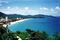 Beautiful Karon Beach on Tropical Phuket Island Thailand