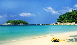 Beautiful Kata Noi Beach on Tropical Phuket Island Thailand
