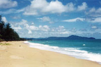 Beautiful Mai Khao Beach on Tropical Phuket Island Thailand