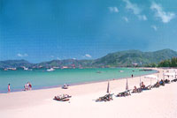 Beautiful Patong Beach on Tropical Phuket Island Thailand