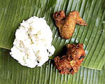 Fried Chicken Served with sticky rice