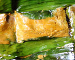 Homok A delicious curry-fish paste in banana leaf