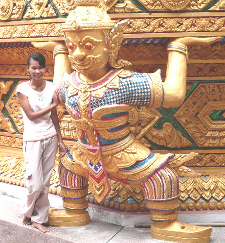 Touring around Tropical Phuket Island visit Thaput Temple