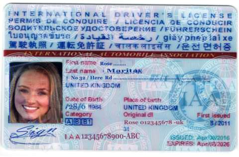 International Drivers License - International Driver's Document Phuket Thailand