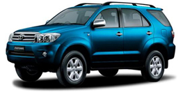 Nature Car Rent offers Competitive Prices Toyota Fortuner