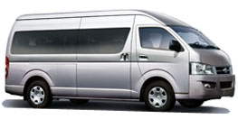 Nature Car Rent offers Competitive Prices Toyota Van/Minibus