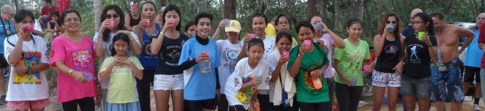 Phuket Hash House Harriers Drinking Club with a Running Problem, drinks every Saturday.