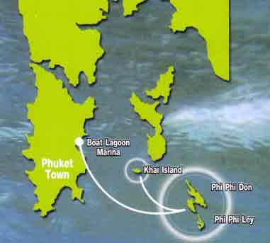 Phuket Tropical Marine - Speedboat Tours Maya Bay map