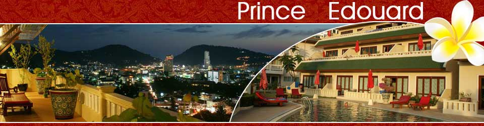 Prince Edouard Resort Apartments is located on a hillside with fantastic view over Patong Bay, Phuket Island