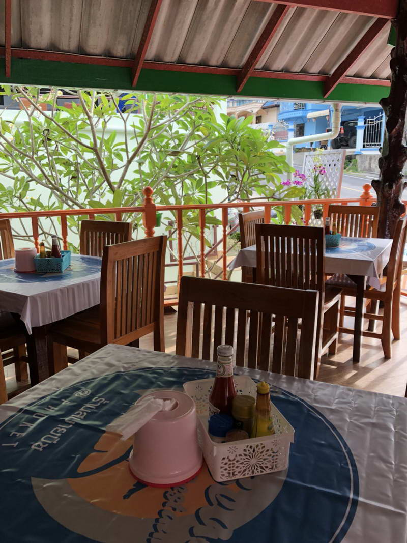Sabai Beach Restaurant overlooking beautiful Patong Beach Phuket Thailand
