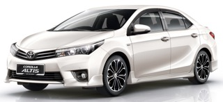 SMC (Services Minded Company) Phuket Car Rent Guarantees Competitive Prices for Toyota Altis
