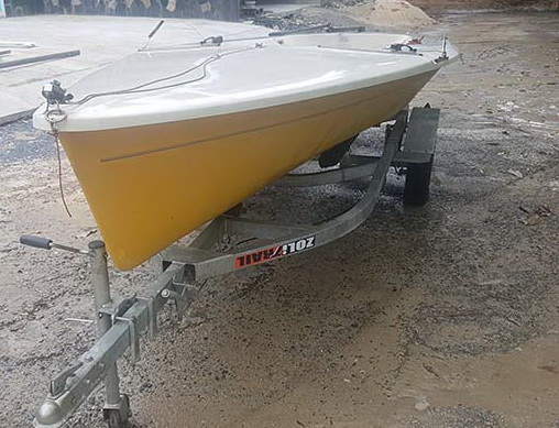 Turbo Taser Sailing Dingy with Proper Road Trailer Phuket
